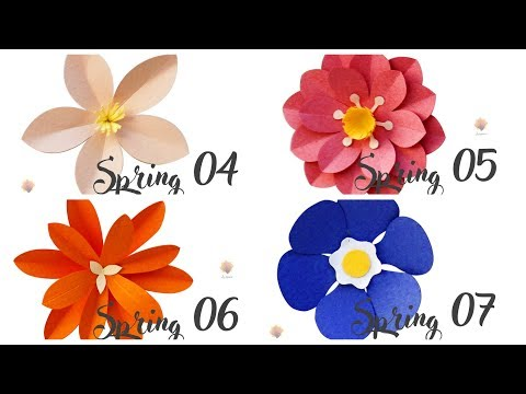 Easy doing Spring 04, 05, 06, 07 cardstock DIY Paper flower backdrop