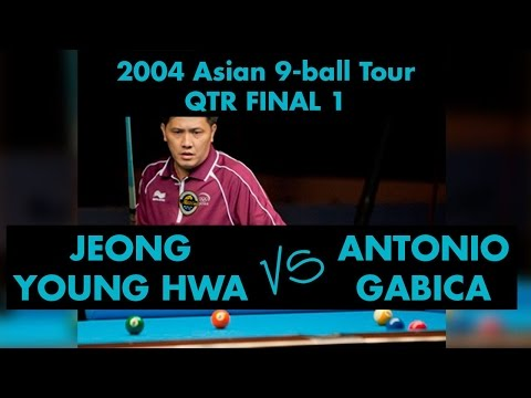 Jeong Young HWA vs Antonio GABICA - QF 2004 Asian 9-ball Tour