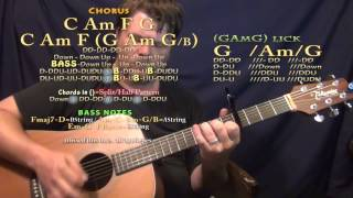 Cradled in Love (Poets of the Fall) Guitar Lesson Chord Chart - Capo 4th