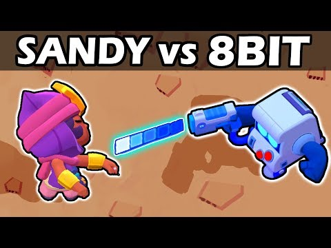SANDY vs 8 BIT | 1vs1 | Brawl Stars