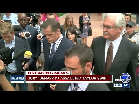 Jury: Denver DJ assaulted Taylor Swift