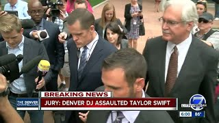 Jury: Denver DJ assaulted Taylor Swift