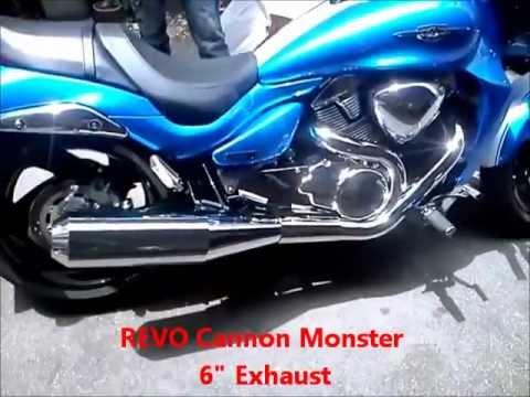 REVO Cannon Monster pipe on 2012 M109R - PakVim net HD Vdieos Portal