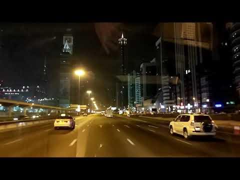Dubai night drive E11