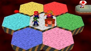 Mario Party 2 - All Survival Minigames (Mario vs Luigi vs Wario vs Donkey Kong)