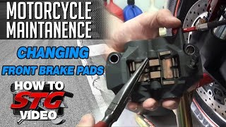 How to Change Front Motorcycle Brake Pads from SportbikeTrackGear.com
