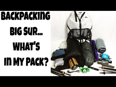 Big Sur Backpacking What's In My Pack