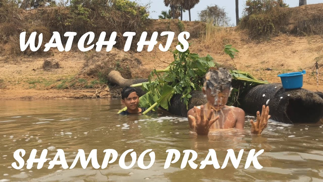 FUNNIEST SHAMPOO PRANK IN MY VILLAGE-YOUNG MAN PRANK HIS FRIEND IN RIVER PART 4