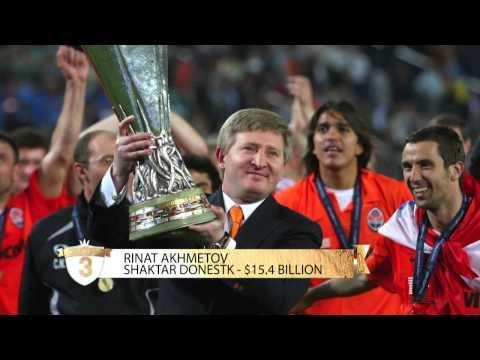 Les 5 plus riches propri?taires et actionnaires de clubs de foot