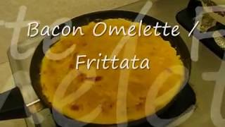 Cooking A Bacon Omelette Frittata