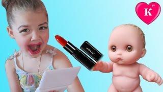 Куклы Пупсики НАКРАСИЛИ МАМУ Пока она спала Игры с косметикой Мультик с куклами