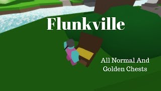 Roblox Flunkville - All Normal And Golden Chest Locations