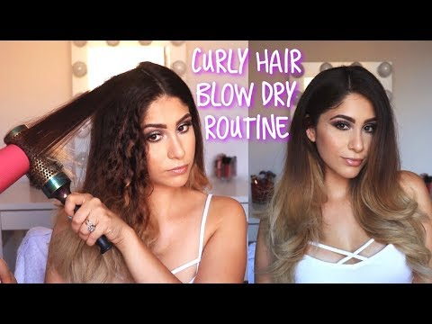 How I Blow Dry My Thick Curly Hair | Blow Out At Home