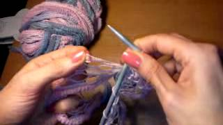 Вязание шарфа из ленточной пряжи(Вязание шарфа из ленточной пряжи нитками