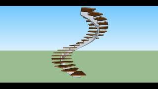 Создание винтовой лестницы со спиральным косоуром в программе скетчап(, 2015-06-08T18:58:57.000Z)