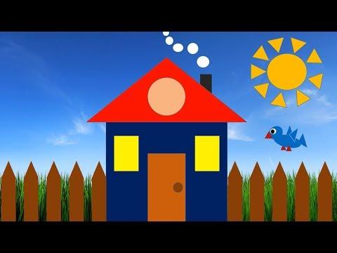 Аппликация из бумаги! Рисунок из геометрических фигур своими руками! Развивающие мультики для детей!