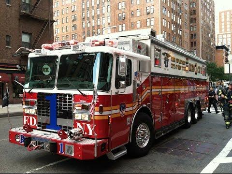 FDNY - Rescue 1 - Responding - 8/15/14