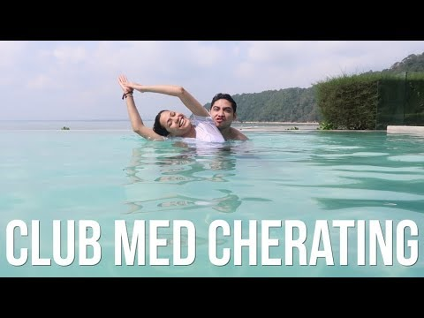 FIRST TIME ON THE TRAPEZE! - CLUB MED CHERATING VLOG