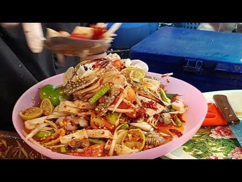 ส้มตำเงินล้านของจริง เจ้ต๊อกแต๊กตำแรดแซบนัว ส้มตำสูตรไม่ใส่กระเทียม Papaya Spicy Seafood Salad Th.