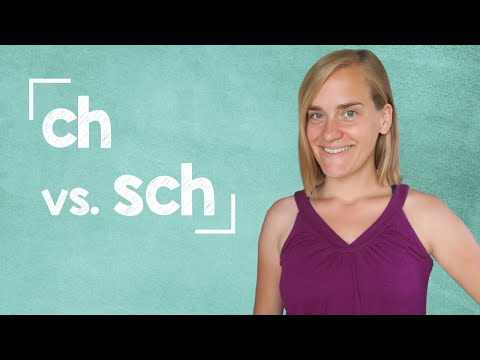 "German Lesson (26) - Pronouncing ""ch"" and ""sch"" - A1"