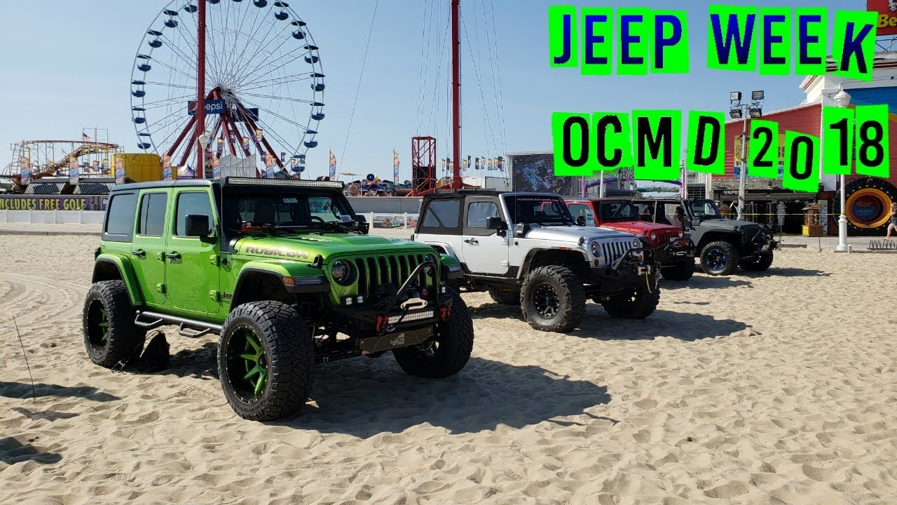 Ocmd Jeep Week 2018 Beach Crawl Obstacle Course Youtube