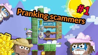 Pranking scammers! | Growtopia