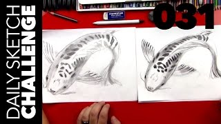 How To Sketch A Koi Fish - ADVANCED