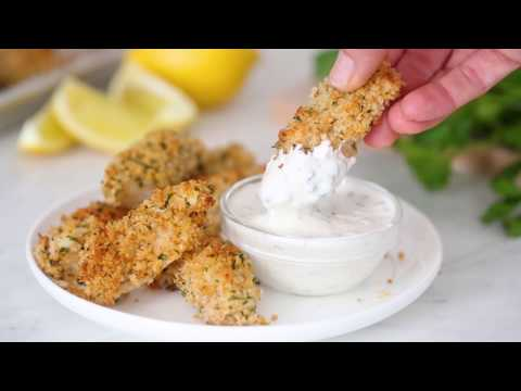 Healthy Baked Fish Sticks