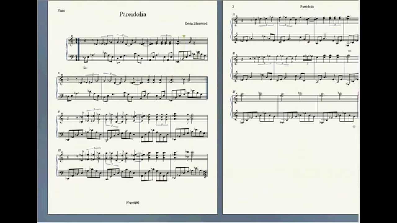 Pareidolia Piano Sheet Music Shangri La Easter Egg Song Youtube