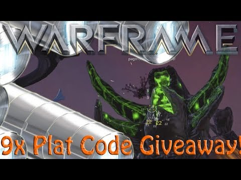 Warframe - 9 More Plat Codes To Giveaway (NOW ENDED!!)