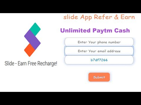 Slide app Loot : Online Refer & Earn Script with Unlimited Trick