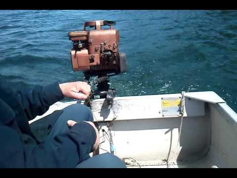Vintage Otterbine Jet Drive Outboard Boat Motor