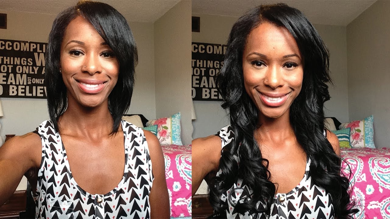 quick & easy: how to clip hair extensions into short hair - youtube