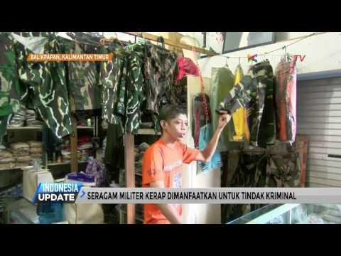 Petugas Razia Atribut Militer di Pasar Balikpapan