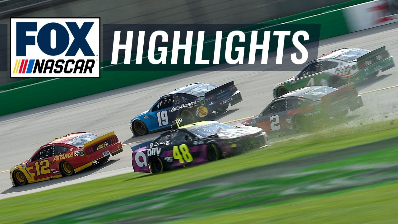 Jimmie Johnson spun by Keselowski with 19 laps to go at Kentucky Speedway | NASCAR ON FOX HIGHLIGHTS