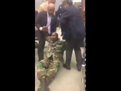 Watch a protester being removed from a Louisiana Legislature hearing