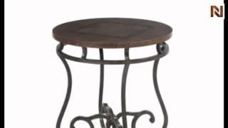 Bernhardt Carmel Round Metal End Table 466-125