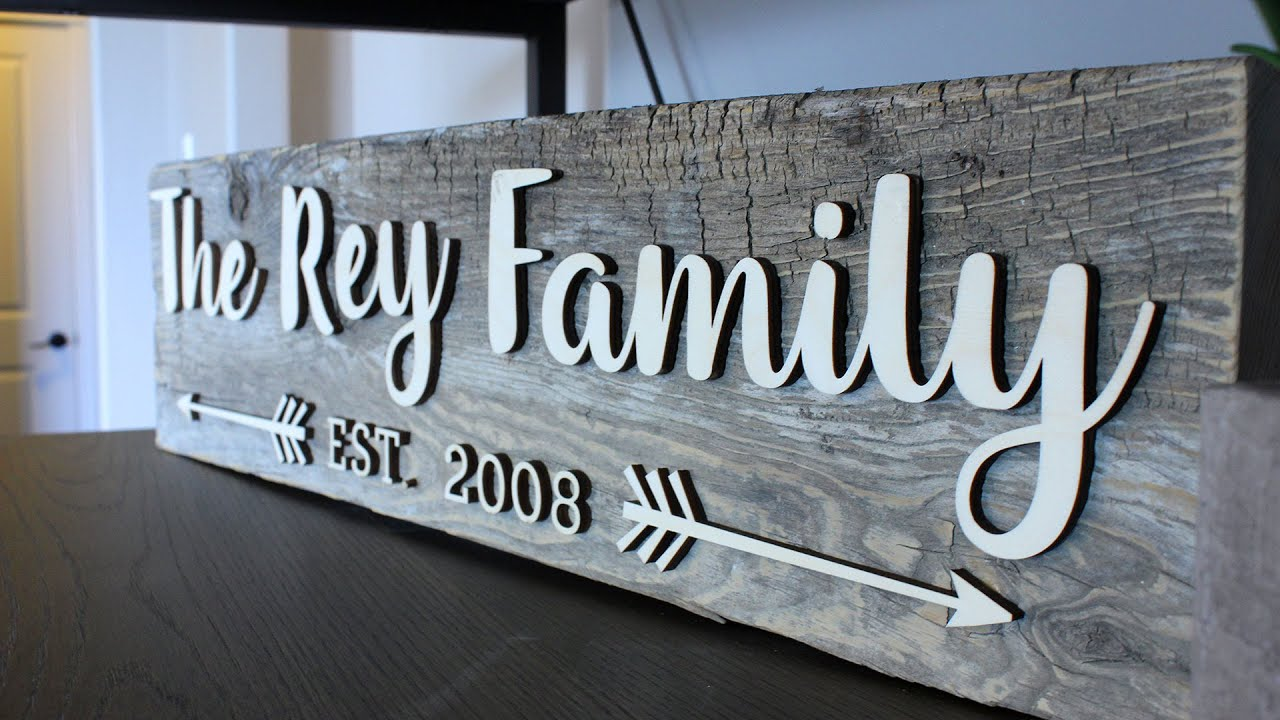 Family Signs Wooden Cricut