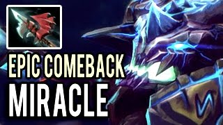 Miracle- Outworld Devourer Epic Comeback with NOOB TEAM Patch 7.01 Dota 2