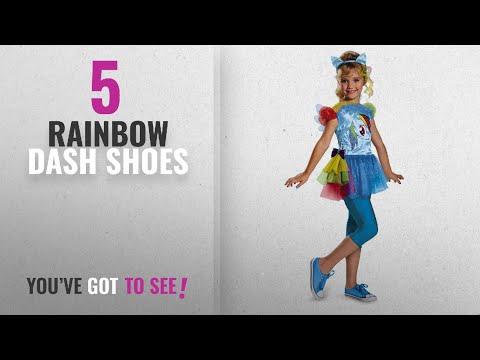 Top 10 Rainbow Dash Shoes [2018]: Hasbro's My Little Pony Rainbow Dash Classic Girls Costume,