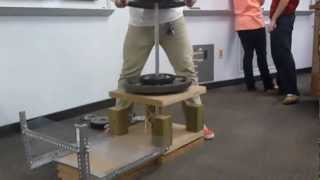 University Of Arkansas Fep Balsa Wood Tower Project Winning Team Fall 2012