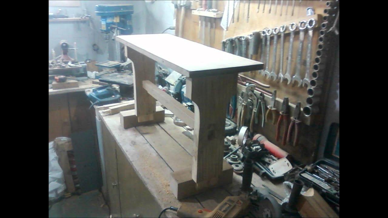 Banco de madera wooden bench youtube - Banco de madera ...