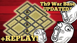 2018 NEW UPDATED TH9 WAR BASE! BEST POST UPDATE WAR BASE WITH REPLAYS! ANTi- EVERYTHING!