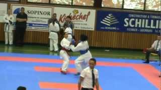 Karate WKF - Lion's Cup (Luxembourg) - O. Mulolo (BEL) vs NED