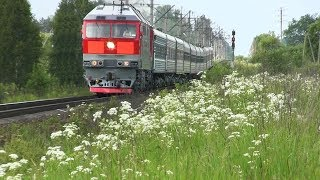 Тепловоз ТЭП70-0247 с поездом №79 Санкт-Петербург — Калининград