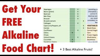 Alkaline Food Chart and 3 Best Alkaline Fruits