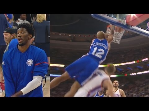 Joel Embiid's NBA Debut! Oklahoma City Thunder vs Philadelphia 76ers