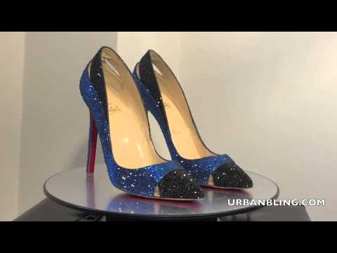 58c4a62de3835b Urban Bling Christian Louboutin Duvette Strass - YouTube