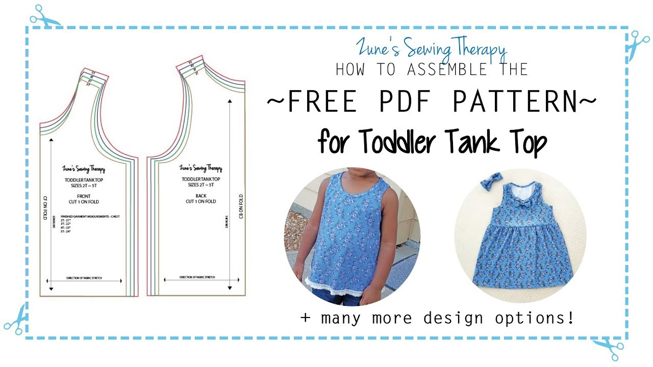 hight resolution of free toddler tank top pattern how to assemble the printable pdf pattern