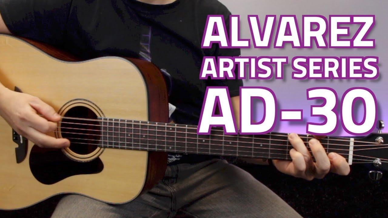 Alvarez Ad70Sc Acoustic Electric Guitar alvarez ad30 guitar demonstration, backstage music